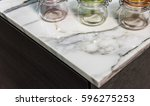 marble  counter of kitchen | Shutterstock . vector #596275253