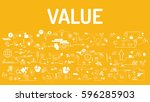 business typography value with... | Shutterstock .eps vector #596285903