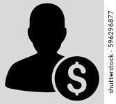 investor glyph pictograph.... | Shutterstock . vector #596296877