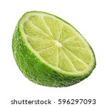 lime isolated on white... | Shutterstock . vector #596297093