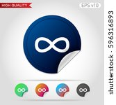 infinity icon. button with...