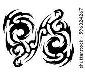tattoo tribal vector designs.... | Shutterstock .eps vector #596324267