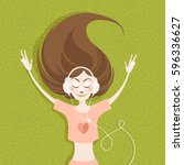 illustration of a beautiful... | Shutterstock .eps vector #596336627