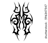 tribal designs. tribal tattoos. ... | Shutterstock .eps vector #596347547