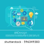 consulting concepts design.... | Shutterstock .eps vector #596349383