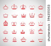 crown icons set isolated on...