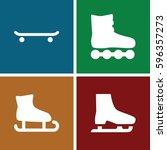 skates icons set. set of 4... | Shutterstock .eps vector #596357273