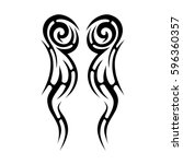 tattoo tribal vector designs... | Shutterstock .eps vector #596360357