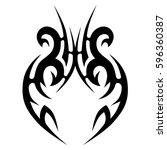 tattoo tribal vector designs... | Shutterstock .eps vector #596360387