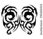 tattoo tribal vector designs... | Shutterstock .eps vector #596360423