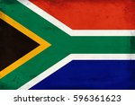 vintage national flag of south... | Shutterstock . vector #596361623