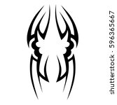 tattoo tribal vector designs... | Shutterstock .eps vector #596365667