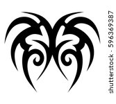 tribal designs. tribal tattoos. ... | Shutterstock .eps vector #596369387
