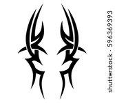 tribal designs. tribal tattoos. ... | Shutterstock .eps vector #596369393