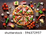 food ingredients and spices for ... | Shutterstock . vector #596372957
