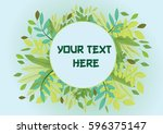 nature frame background with... | Shutterstock .eps vector #596375147