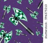seamless pattern axe cartoon...