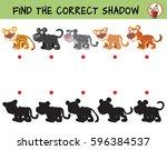 big cats. leopard  panther ... | Shutterstock .eps vector #596384537
