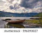 Small Wooden Fishing Boat In...