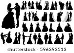 vector  isolated large set of... | Shutterstock .eps vector #596393513