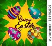happy easter | Shutterstock .eps vector #596403503
