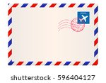 envelope. international air... | Shutterstock .eps vector #596404127