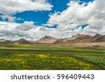 mount qomolangma scenic highway | Shutterstock . vector #596409443
