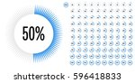 set of circle percentage... | Shutterstock .eps vector #596418833