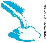 vector pouring concrete icon | Shutterstock .eps vector #596424533