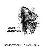 Aggressive Monster Tattoo...
