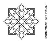islamic pattern. vector... | Shutterstock .eps vector #596446007