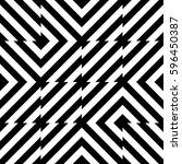 vector seamless pattern.... | Shutterstock .eps vector #596450387