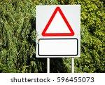 Blank Warning Type Road Sign...