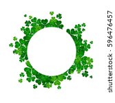 saint patrick's day frame with...   Shutterstock . vector #596476457