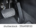 Small photo of Automobile accelerator and brake pedal