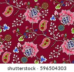 elegance seamless pattern with... | Shutterstock .eps vector #596504303