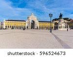 commerce square  praca do... | Shutterstock . vector #596524673