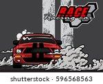 racing car logo   Shutterstock .eps vector #596568563
