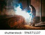 welder | Shutterstock . vector #596571137