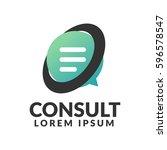consulting agency logo.... | Shutterstock .eps vector #596578547