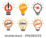 stylized set of vector... | Shutterstock .eps vector #596584253