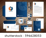 neurology star logo  blue ... | Shutterstock .eps vector #596628053