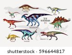 Set Of Vector Dinosaurs....