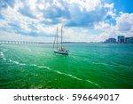 usa. florida. miami. february... | Shutterstock . vector #596649017