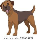 vector illustration  funny... | Shutterstock .eps vector #596655797