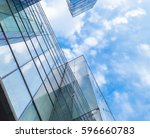 low angle view of modern... | Shutterstock . vector #596660783