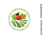 organic food emblem and badge | Shutterstock .eps vector #596666843