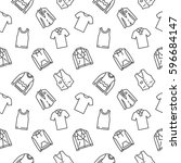 top clothes background seamless ... | Shutterstock .eps vector #596684147
