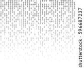 binary code black and white... | Shutterstock .eps vector #596687237