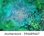 abstract hand made watercolor... | Shutterstock . vector #596689667